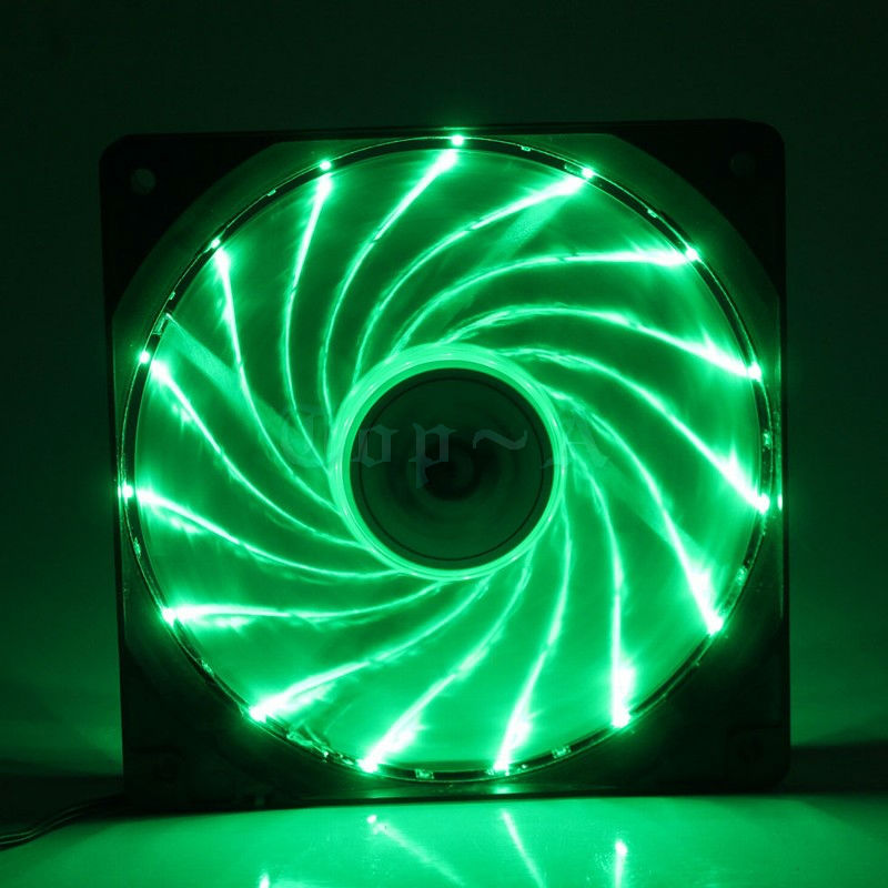 computer fan led. aliexpress.com : buy gdstime 2 pcs/lot new ultra bright 120mm silent fan dazzling green led dc 12v 4pin for computer pc cooling from reliable led n