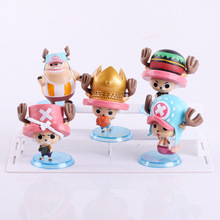 One Piece Chopper 5pcs/set Action Figures The fish men island Chopper Dolls PVC ACGN figure Garage Kit Toys Brinquedos Anime 7CM