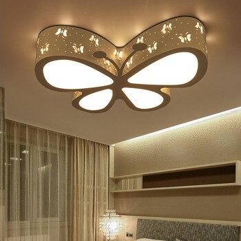 Moderne Bref Enfants Chambre Coloré Papillon Creux Fer LED Plafonnier Maison Déco Salle à Manger Acrylique Plafonnier