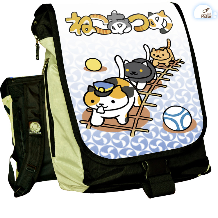 Anime Neko Atsume COSPLAY Casual fashion for men and womenComputer Backpack Student Bag Backpack anime seraph of the end cosplay yuichiro hyakuya casual fashion for men and womencomputer backpack student bag backpack