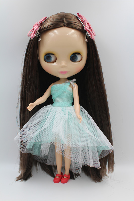 Free Shipping big discount RBL-300DIY Nude Blyth doll birthday gift for girl 4colour big eyes dolls with beautiful Hair cute toy big beautiful eyes косметический набор косметический набор big beautiful eyes