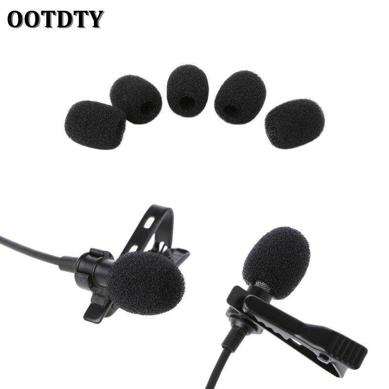 OOTDTY 5X Round Ball Lavalier Microphone Foam Windscreen Sponge Windshields 6mm Opening
