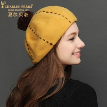 Charles Perra Brand Women Wool Hats Caps Autumn Winter New Elegant Warm Lady Berets Casual Fashion Samll Fedoras 2812