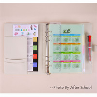 Creative Spiral Notebook Suit With 2018 Calendar Sticker Ballpoint Pen Student Lovely 2018 Diary Planner Office