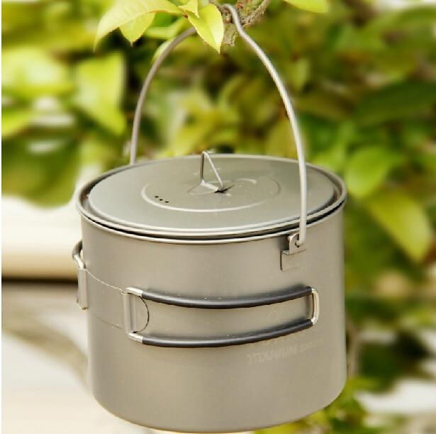 TOAKS Titanium Pot Cooking Pots Picnic Hang Pot Camping Portable Ultralight Titanium Pot 1100ml