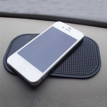 Car Anti Slip Mat For Mobile Phone Sticky Pad GPS Holder Non-slip Mat Silicon Non-slip Mat For Phone Coin Sunglass Holder Black(China)