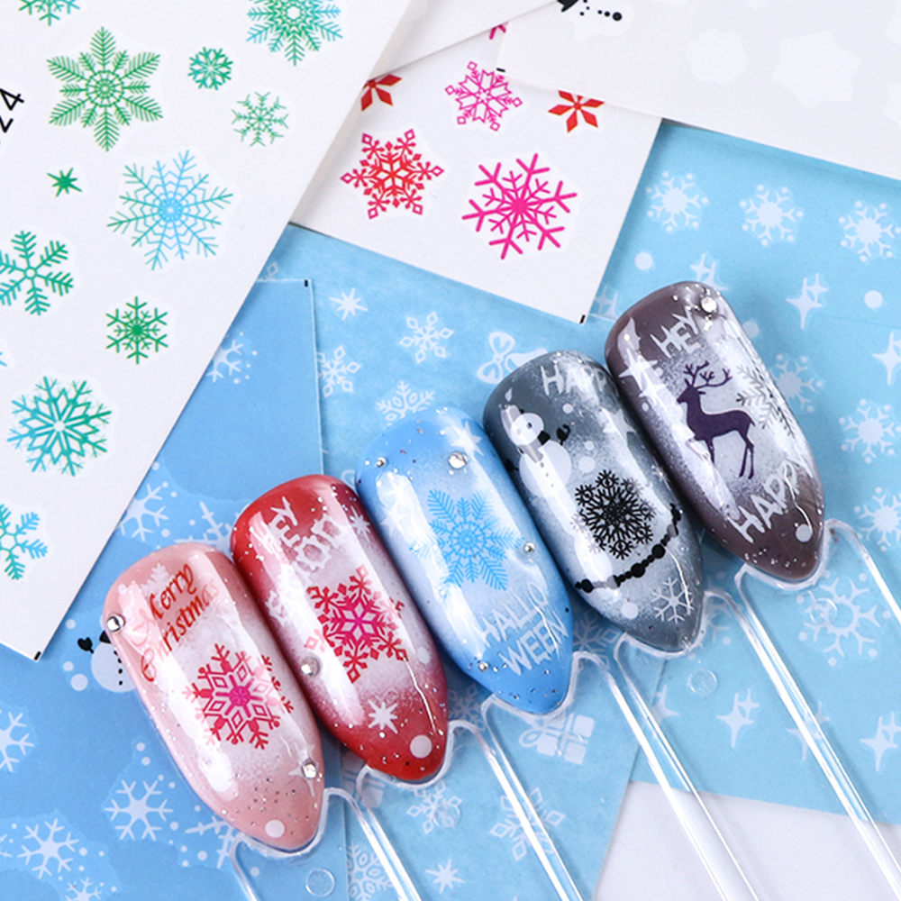Nail Art Sticker New Year , Tattoo Christmas Water Decal  1