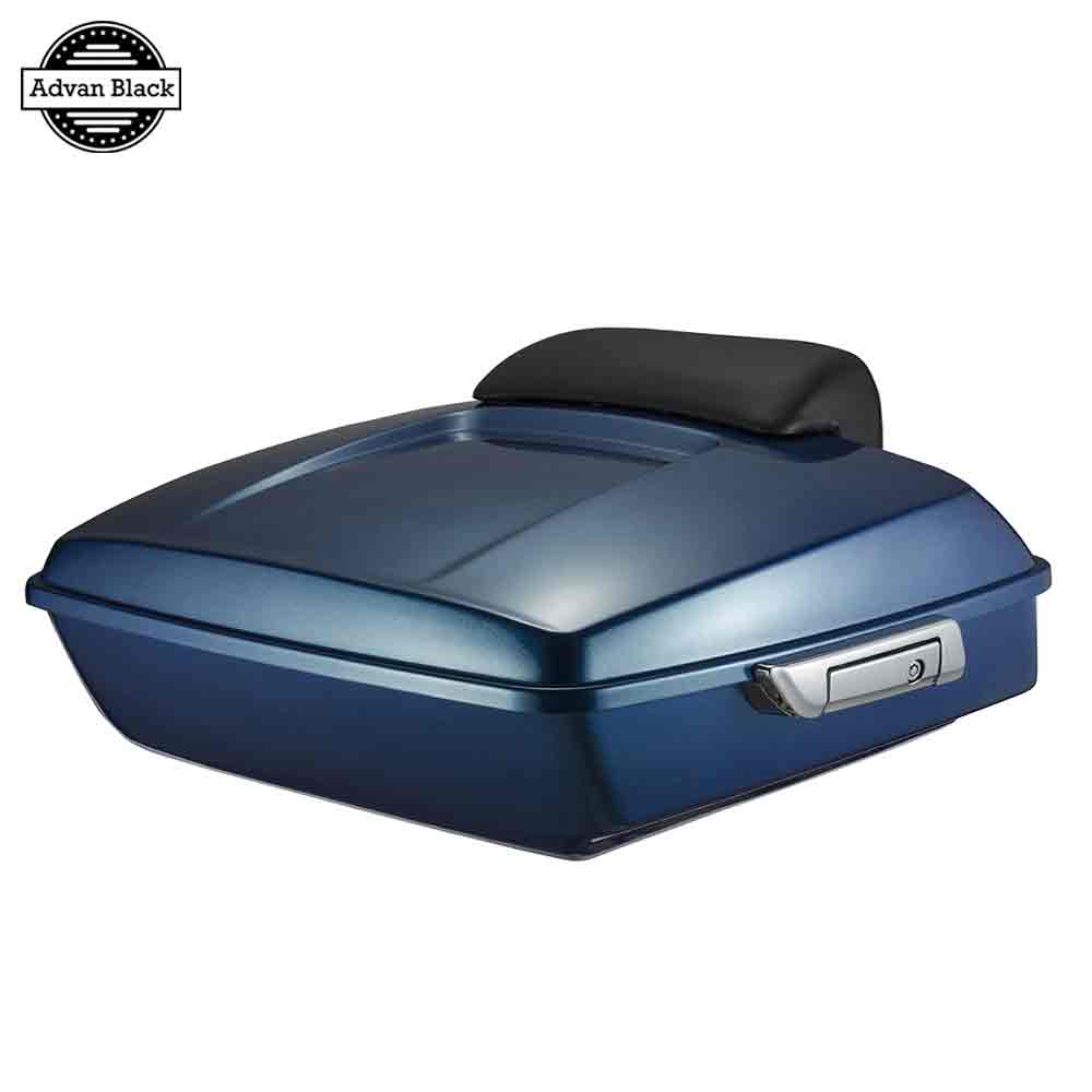 AdvanBlack Daytona Blue Pearl Razor Tour Pack Chopped Backrest Pad  For Harley Street Electra Road Glide Road King 2014-2017 крокус blue pearl geolia