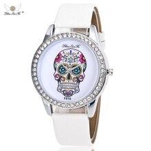 zhou lian fa Fashion Skeleton Women Quartz Watch Rhinestone