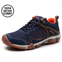 YAYA SSYAR CURRY 2017 New Men Hiking Sneakers Low Cut Sport Shoes Breathable Hiking Shoes Men