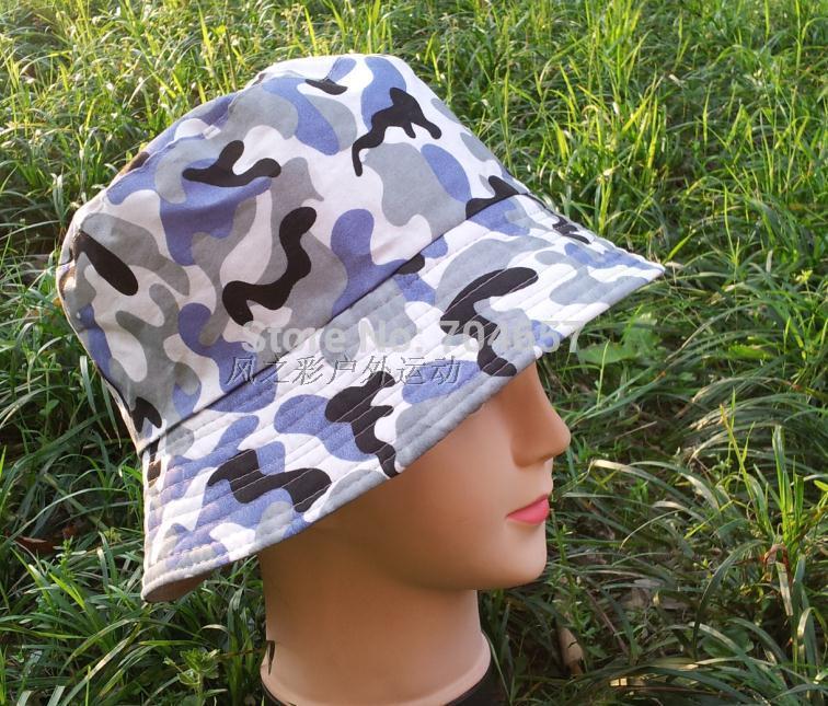 Womens Mens Unisex Outdoor Summer Travel Beach Sun Hat Camouflage Lattice Bucket Hats Flat Fishing Hiking Foldable Hat