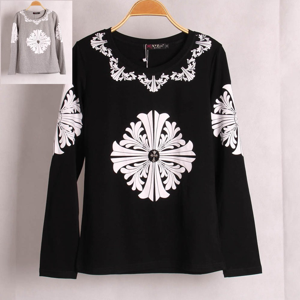 Buy new casual fashion women river cross for Long sleeve printed t shirts