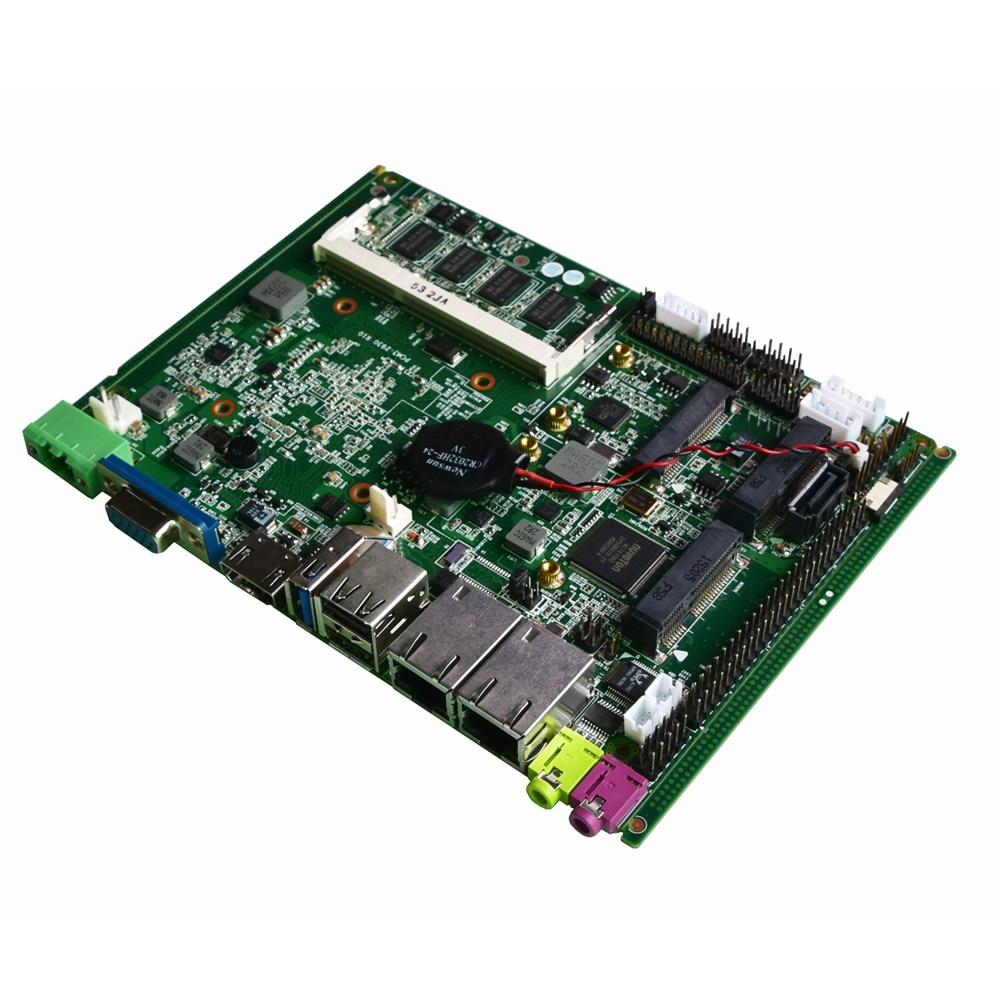 Fanless Intel J1900 Quad Core Processor ITX Motherboard Dual LAN Mainboard Mini PCIE WIFI Msata SATA Industrial Motherboard