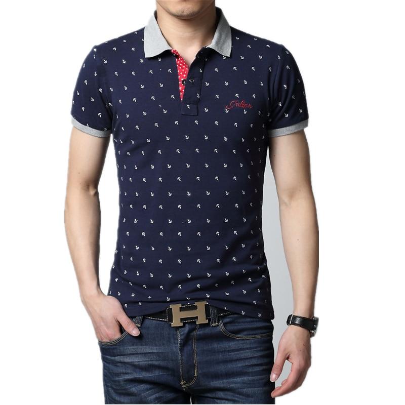 New 2016 mens summer hot sale 3 colors skull dots cotton for Polo shirt men sale