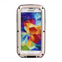 Aluminum Metal Shockproof Case For Samsung Galaxy S5 I9600 Life Waterproof Tough Hybrid Armor Metal Military