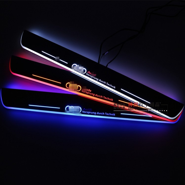 eOsuns LED moving door scuff door sill light plate overlays linings Nerf Bars & Running Boards door lamp  for audi TT 8J cawanerl car canbus led package kit 2835 smd white interior dome map cargo license plate light for audi tt tts 8j 2007 2012