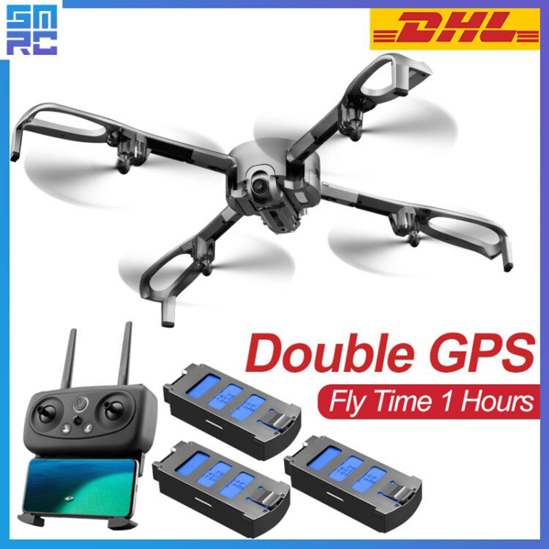 2019 New SMRC S21 double GPS 1080P drones with camera hd one