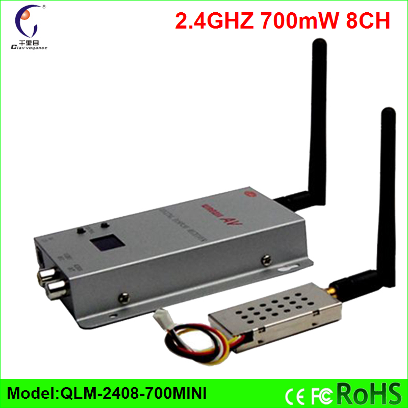 ФОТО 2.4GHz 700mW FPV1.5KM Wireless image transmission Wireless analog high definition Video Transmitter and Receiver Free Shipping