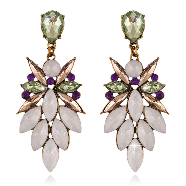 New luxury crystal jewelry flowers colorful dangle earrings new luxury crystal jewelry flowers colorful dangle earrings bohemia wedding sexy starburst pendant earrings fpr women mozeypictures Images