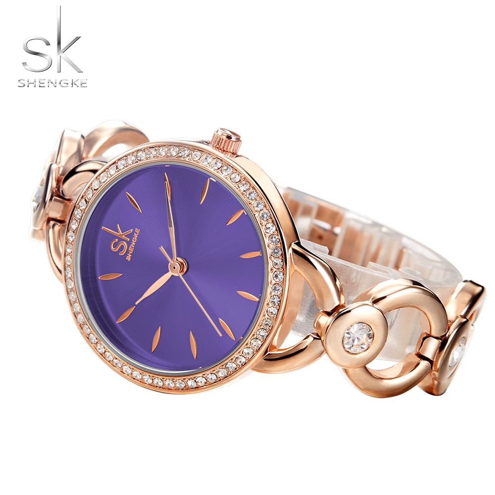 Shengke Luxury Women Watch Famous Brands Gold Fashion Creative Bracelet Watches Ladies Women Wrist Watches Relogio Femininos SK 4