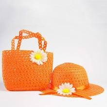 Flower Straw Hat And Bag