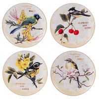 flower bird pattern ceramic wall decorative plate American decorative dish pendant home decora crafts restaurant accessories