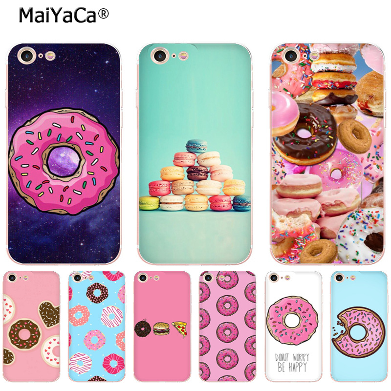 MaiYaCa donut wonderland dont worry be happy soft tpu phone case cover for Apple iPhone 8 7 6 6S Plus X 5 5S SE 5C 4 4S case ...