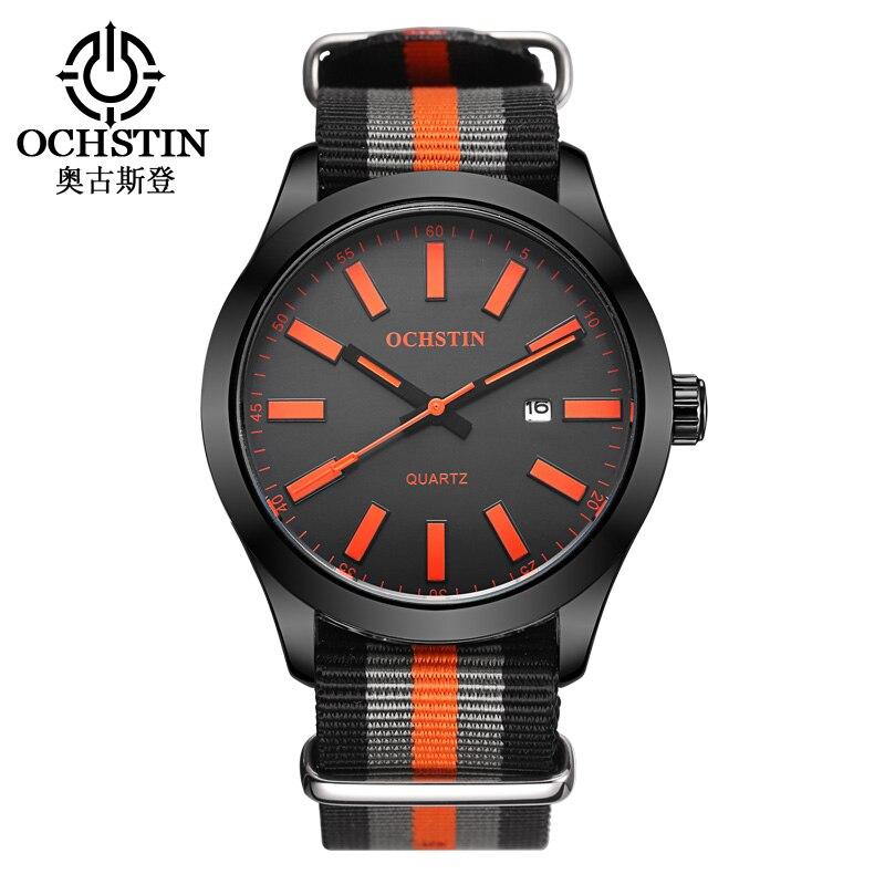 Relogio Masculino OCHSTIN Brand Men Military Watches Male Sport Watch Clock Army Nylon Strap Luxury Wrist Quartz Watch GQ048C
