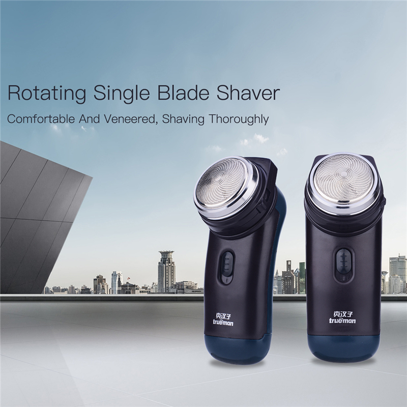 Battery Operated Electric Shaver Trimmer Rotary Single Blade Razor for Men Hair shaving Machine with Beard Sideburns trimming P0 шагомер omron hj 320 e