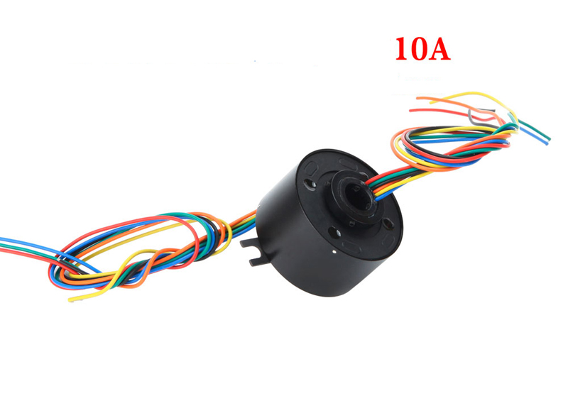 Hollow Shaft Hole Diameter 38.1mm Out Dia.99mm Integrated Electric Collecting Sliprings Big Current 10A 6CH/12 Channel Slip Ring m slipring pass hole slip ring hole diameter 5mm 2 4 6 12 channel 2a 7mm 4 6 channel electric slip ring hollow shaft slip ring