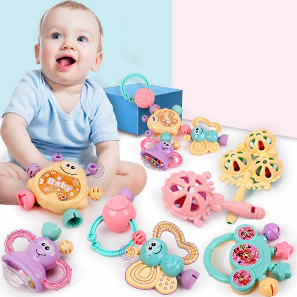 7 шт./компл. игрушка-погремушка красочные Монтессори игрушки прорезывания зубов детские развивающие карусельки детский Прорезыватель для зубов для девочек