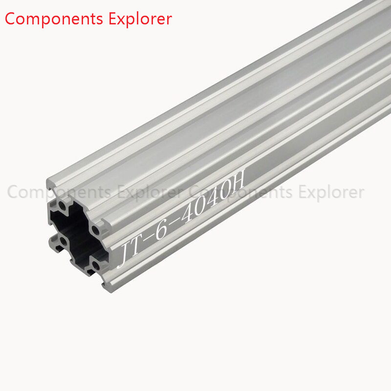 Arbitrary Cutting 1000mm 4040 V Slot,double Slot Aluminum Extrusion Profile,Silvery Color.