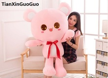 stuffed fillings toy Large 100cm cute missing bear plush toy cartoon pink teddy bear soft doll hugging pillow gift s0665