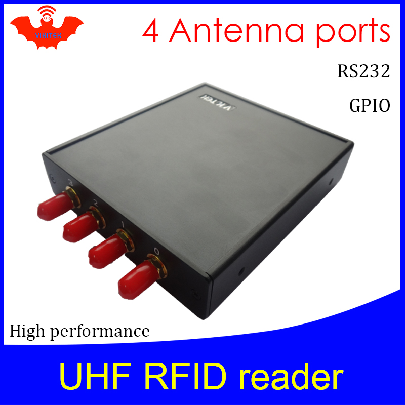 UHF RFID Reader 915MHZ Impinj R2000  4 Antenna Port  Fixed Reader For Warehouse Logistic Production Line RS232 Rfid Card Scanner