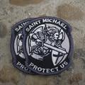 СОВРЕМЕННЫЕ САНКТ ST. МАЙКЛ ЗАЩИТИТЬ НАС ТАКТИЧЕСКИЙ МОРАЛЬ MILSPEC ACU ВЫШИВКИ ВОЕННОЙ Полиции РУКА МАГИЯ ПАТЧ армия: 8 см * 7 см