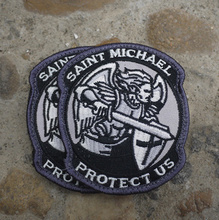 MODERN SAINT ST. MICHAEL PROTECT US TACTICAL MORALE MILSPEC ACU EMBROIDERY Police MILITARY ARM MAGIC PATCH military army:8cm*7cm