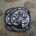 MODERNOS SÃO ST. MICHAEL NOS PROTEGER BRAÇO MAGIA REMENDO MORAL TÁTICO MILSPEC ACU BORDADO MILITAR Polícia militar do exército: 8 cm * 7 cm