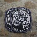 SANTO MODERNO ST. MICHAEL PROTEGERNOS MORAL TÁCTICO MILSPEC BORDADO ACU MILITAR Policial BRAZO MÁGICO PARCHE ejército militar: 8 cm * 7 cm
