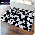 European Cowhide Leather Rugs And Carpets Furniture Living Room And Bedroom Floral Mats