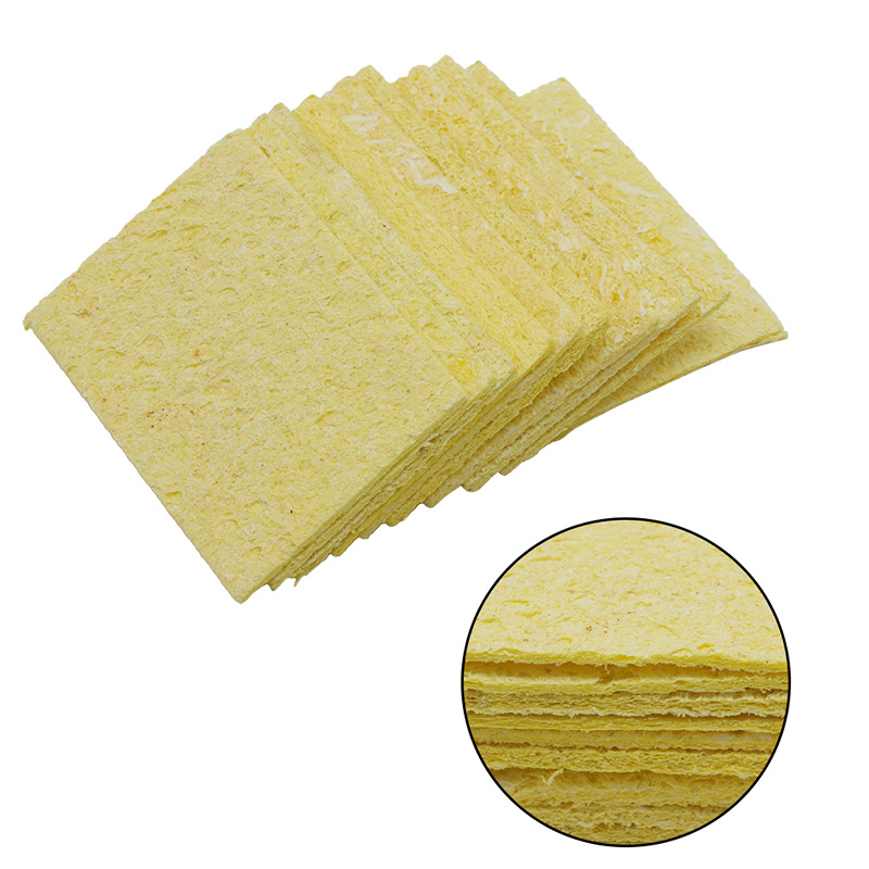 2017 New 10Pcs/lot Yellow Cleaning Sponge Cleaner fr Enduring Electric Welding Soldering Iron