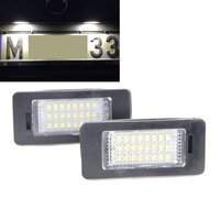 Free Shipping 2x ERROR FREE 3528 SMD 18 LED LICENSE NUMBER PLATE LIGHT FOR Golf For