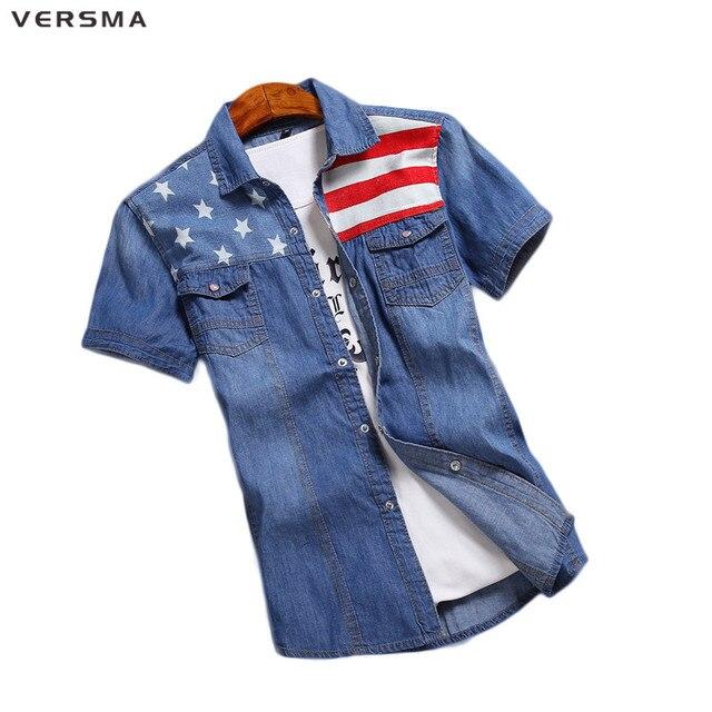Slim Stile Camicia Fit Abbigliamento Breve Versma Uomo Coreano 8nO0wPXk