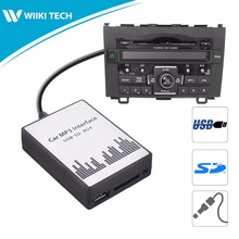 APPS2Car Car Radio USB SD AUX Interface Digital Music Changer Mp3 Adapter for Honda CRV 2004-2011 fits selected OEM Radios