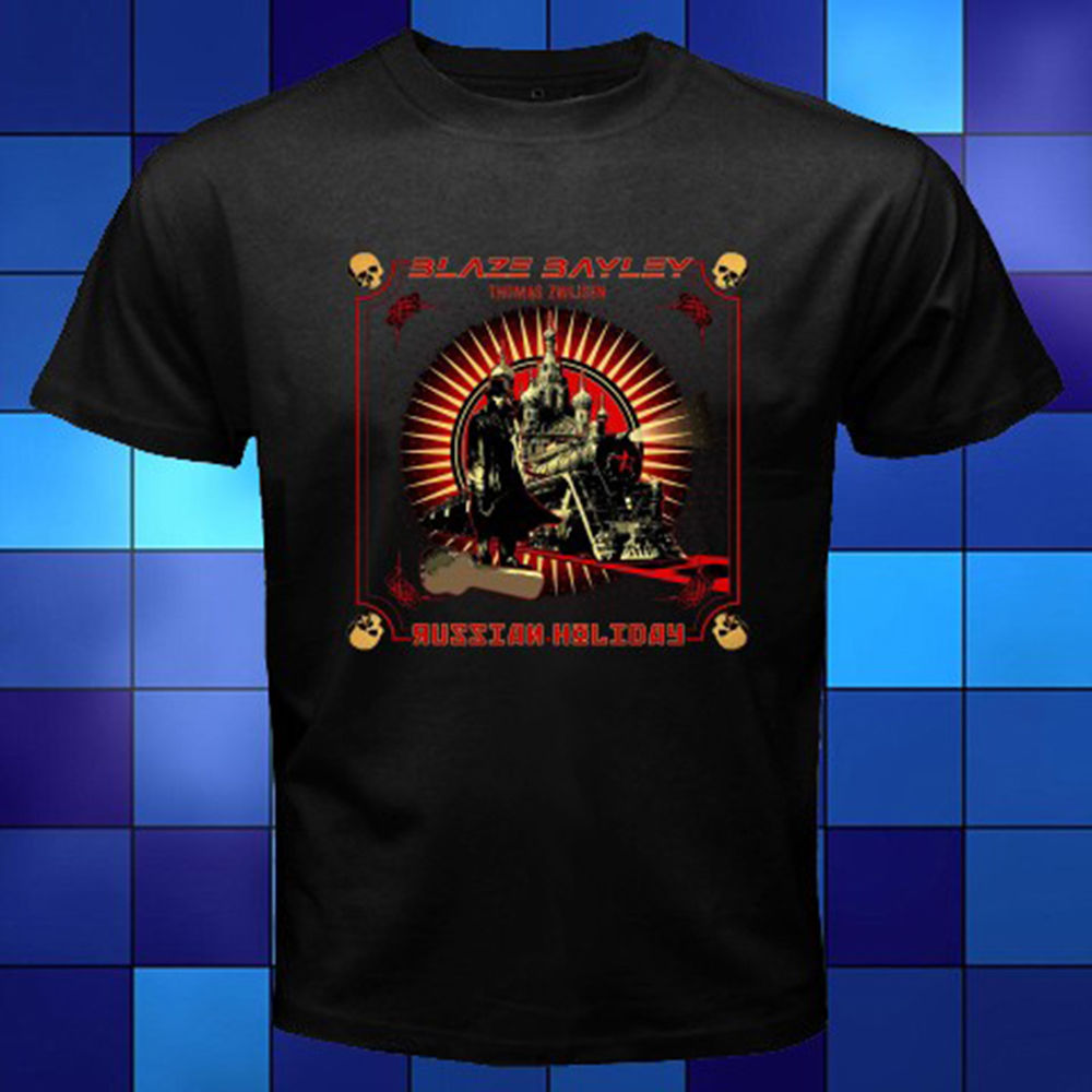 New Blaze Bayley Russian Holiday Black T-Shirt Size S-3XL Print Summer Tops Tees Funny Tops Tee Casual O Neck