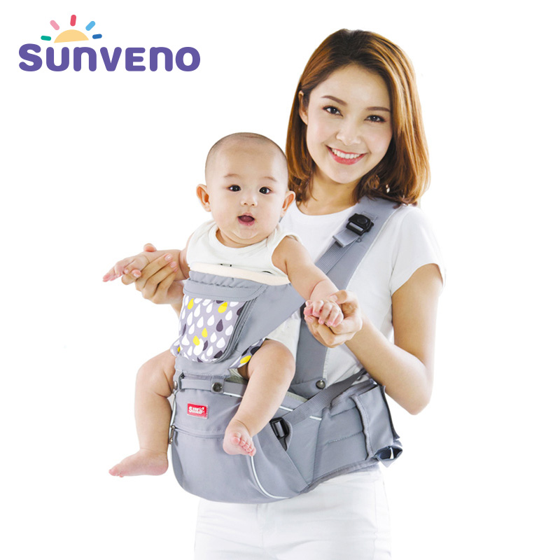 SUNVENO Designer Baby Carrier Infant Toddler Front Facing Sling Carrier Kids Kangaroo Hipseat Baby Care 0-36Months