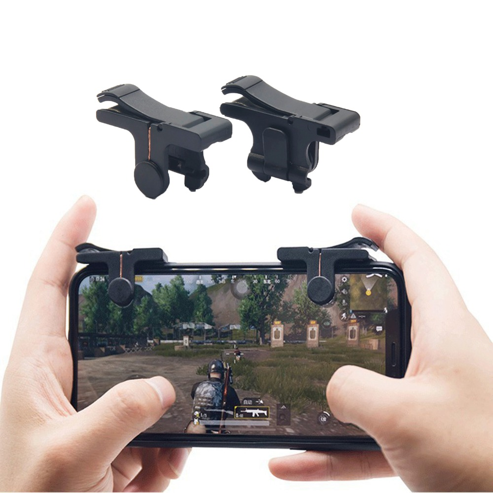 1pair Knives Out Rules of Survival Mobile Game Trigger Fire Button Handle L1R1 Shooter Controller For IOS Android Phones V 4.0
