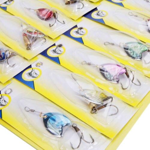 Lot 30pcs Kinds of font b Fishing b font Lures Crankbaits Hooks Spinner Spoon Jig Baits