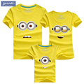 Summer 2017 family tees 100% cotton cartoon cute dad mum baby t shirts cotton kids clothes children clothing christmast shirt