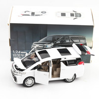 For Toyota Elfa Business Car Model Alloy Diecast Speelgoed Auto De Juguete Kids Toys Boys 4 Year For Alphard Pull Back Model Car