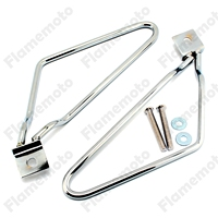 Motorcycle Bike Accessories Saddle bag Support Bars Mount Bracket For Harley Softail Fat Boy Sportster XL 883 1200 Chrome